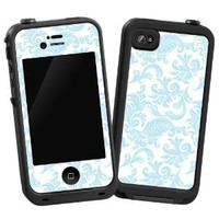 "Soft Chateau Blue Damask ""Protective Decal Skin"" for LifeProof 4/4s Case"