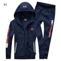 Under Armour 2018 autumn and winter new men's warm cardigan hooded two-piece #1