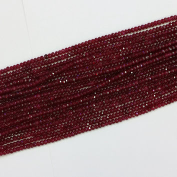 Fashion red ruby jasper faceted abacus 2x4mm High-grade jade loose beads lovely Jewelry making 15 inch B573