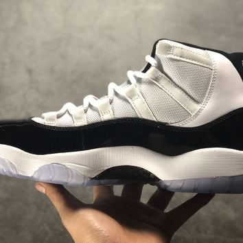 [ Free  Shipping ]Air Jordan 11 concord 378037-107 Basketball Shoes