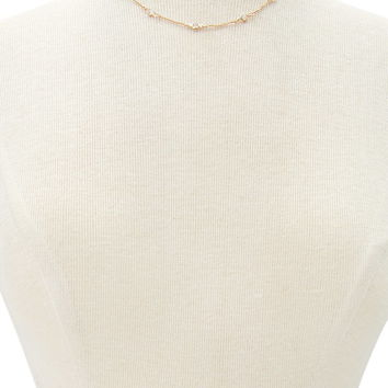 Faux Gemstone Charm Necklace | Forever 21 - 1000172660