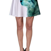 XS - 3XL  Hungry like the Wolf Flare Skater Skirt  - The Menagerie Collection - Art & Fashion - Unique - Woodland- Women and Teen