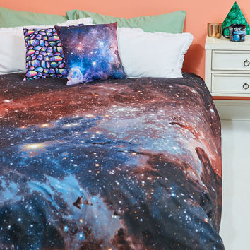 One Nebula at a Time Duvet Cover Set in Full/Queen | Mod Retro Vintage Decor Accessories | ModCloth.com