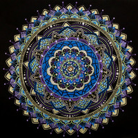 Purple, Blue, and Green Mandala