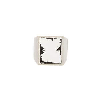 Maison Martin Margiela Silver Mirrored Face Ring