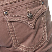 Miss Me Golden Brown Flap Pocket Skinny Jeans