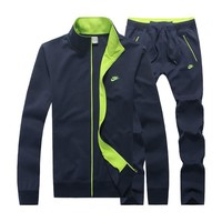 Nike Cardigan Jacket Coat Pants Trousers Set Two-Piece
