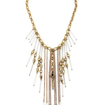 Vanessa Mooney Masquerade Clear Statement Necklace
