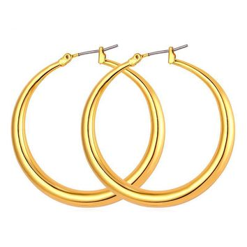 Wives Fashion Jewelry Silver Gold Color Large Circle Hoop Earrings
