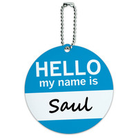 Saul Hello My Name Is Round ID Card Luggage Tag