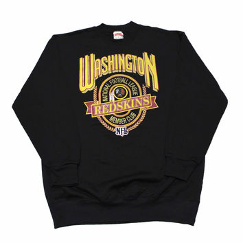Vintage 90s Washington Redskins NFL Crewneck Sweatshirt Made in USA Mens Size Large