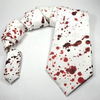blood splatter tie