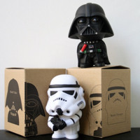 STARWARS 10cm 2pcs/lot Q Style Star War Darth Vader & STORM TROOPER Action Figure Model Toy Come with Retail Box