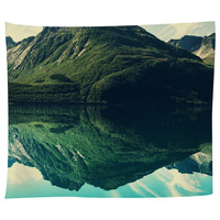 Tranquil Mountain Lake Tapestry