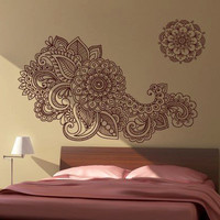 Floral Wall Decal  Indian Style decal by Casadart on Etsy