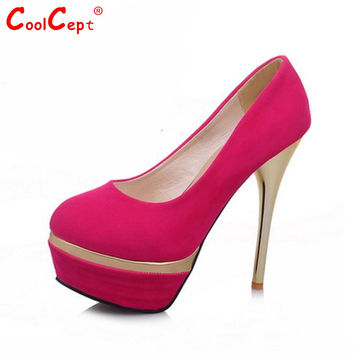women thin high heel shoes lady platform sexy brnad female fashion heeled chaussure femme pumps heels shoes size 31-44 P16547