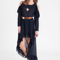 Midnight Tides Belted Dress - $59.00 : ThreadSence, Women's Indie & Bohemian Clothing, Dresses, & Accessories