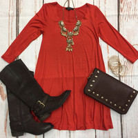 Down To a Tee Tunic: Rust