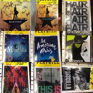 Signed Broadway Playbills