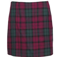 Jeanne Checked Mini Woven Skirt