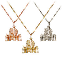 Disney Castle Necklace - Diamond and 14K Gold | Disney Store