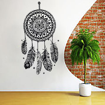 Boho Dreamcatcher Wall Decal Vinyl Sticker Home Decor Bohemian Bedroom Art LM168