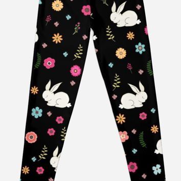 'Easter bunny ' Leggings by ValentinaHramov