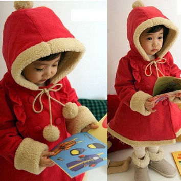 Baby Girls Winter Warm Jacket Kids Christmas Hoodies Coat 6M-5Y Outerar Jacket = 1931790276