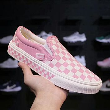 Shop Vans Checkerboard Slip On on Wanelo