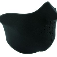 Plain Black Neoprene Half Face Mask Riding Winter