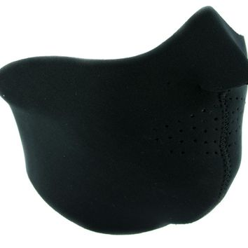 Plain Black Neoprene Half Face Mask for Cold Weather Cycling / Motorcycle Riding