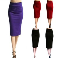 Ladies stretch pencil skirt