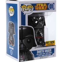 Funko Star Wars Pop! Chrome Darth Vader Vinyl Bobble-Head Hot Topic Exclusive