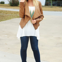 Tell Me What You Want Jacket: Light Brown