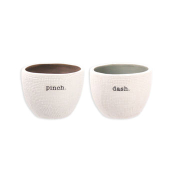 Rae Dunn Pinch + Dash Salt and Pepper Cellars