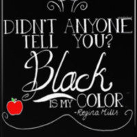 Black is my color (white font, American spelling)