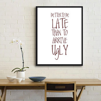 Bathroom Decor Inspirational Print Funny Quote Printable Decor Poster Printable Instant Download Typography Quote Typography Art
