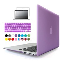 3 in1 Matte Case For Apple macbook Air Pro Retina 11 12 13 15 inch Protector For Mac book 11.6 13.3 15.4 hard laptop bag