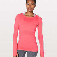 Swiftly Tech Long Sleeve Crew | Women's Long Sleeve Running Tops | lululemon athletica