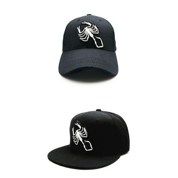 Trendy Winter Jacket LDSLYJR 2018 Scorpion animals embroidery cotton Baseball Cap hip-hop cap Adjustable Snapback Hats for kids and adult size 234 AT_92_12
