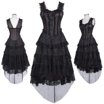 Steampunk Victorian Corset Princess Dress Gothic Retro Vampire Dress Ball Gowns