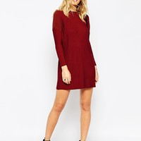 ASOS Dress In Rib With High Neck at asos.com