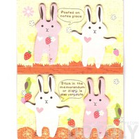 Animal Themed Bunny Rabbit Shaped Memo Pad Post-it Index Tab Sticky Notes