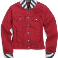 Sperry Top-Sider Spinnaker Denim Jacket Red, Size M  Women's