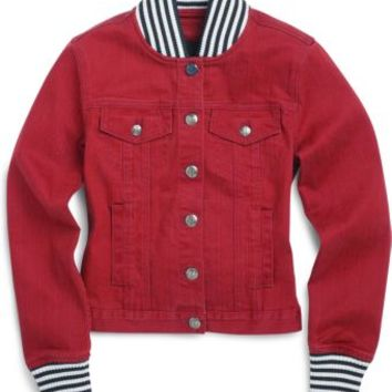 Sperry Top-Sider Spinnaker Denim Jacket Red, Size XS  Women's