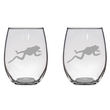 Jumping Frog Engraved Glasses, Flutes, Pint Glass, Mason Jar Free Personalization