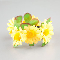 Daisy Fun Bun Yellow One Size For Women 24296360001