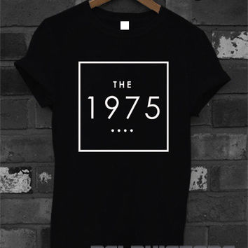 the 1975 shirt the 1975 band t-shirt printed black and white unisex size (DL-36)