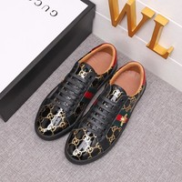 GUCCI Men Casual Shoes Boots fashionable leather Fashion Casual Sneakers Sport Shoes