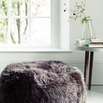 NEW Sumptuous Sheepskin Pouf - Mink - Indoor Living